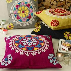 Floor, Cushion, pillow, indian, bright, modern, contemporary, Graham, Green