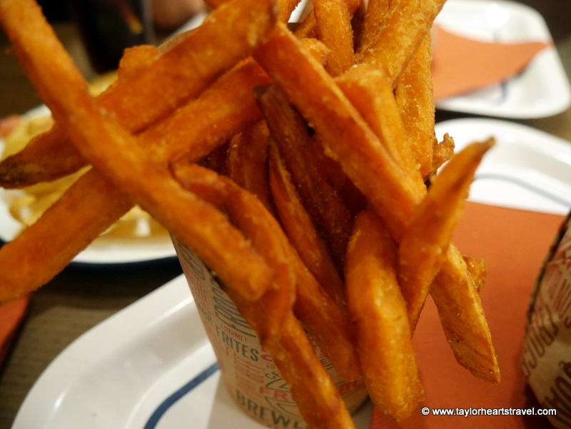 Fries, Sweet potato fries, FrogBurger, Paris, Burgers in Paris, Travel lifestyle blog, Taylor Hearts Travel, where to eat in Paris, France, Paris, Restaurant