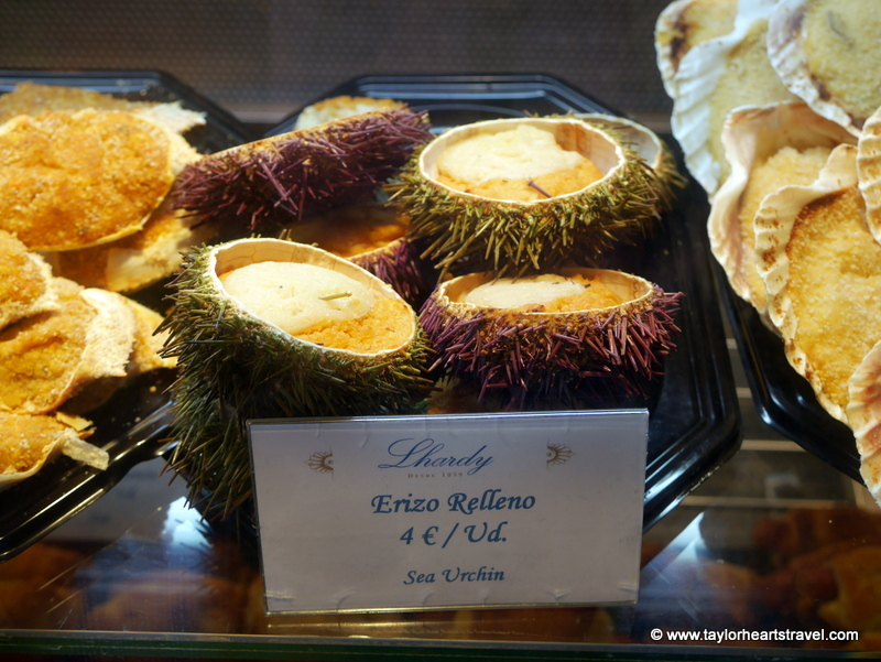 Urchin, What to do in Madrid, Mercado San Miguel, Madrid