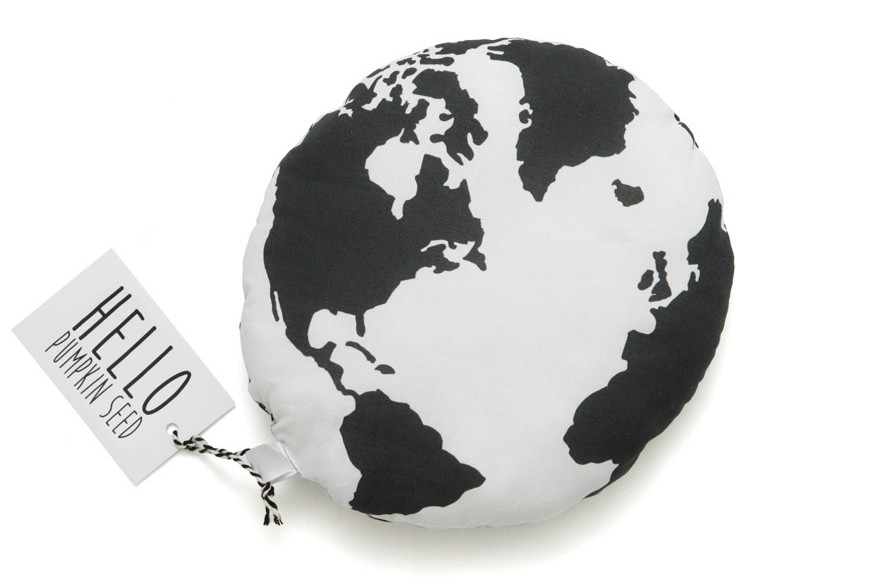 Globe Cushion, This Modern Life, Travel Style, Travel Nursery, Monochrome, Nursery, Style, Cool, Unique, Travel Gift, Travel Present