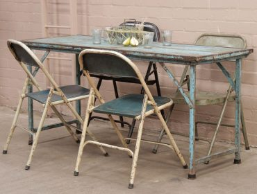 Vintage Desk, Scaramanga, Desk, Indian Desk, Folding Table, Turquoise, Vintage Table, Antique desk