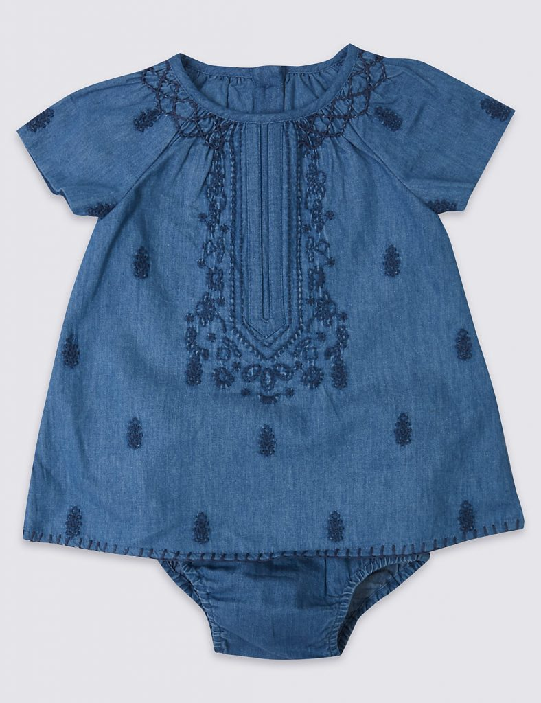 Blue dress - summer clothes for baby girls