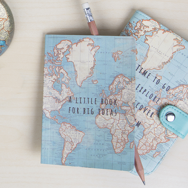 Sass & belle, Sass & Bell, Travel Style, Travel Blog, Map, Suitcase, Gift, vintage Map, Notebook