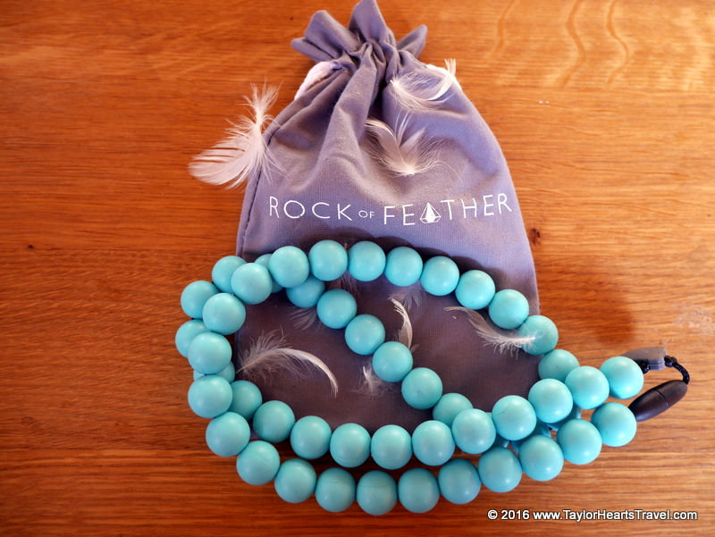baby travel gear, rock of feather, teething, teething necklace