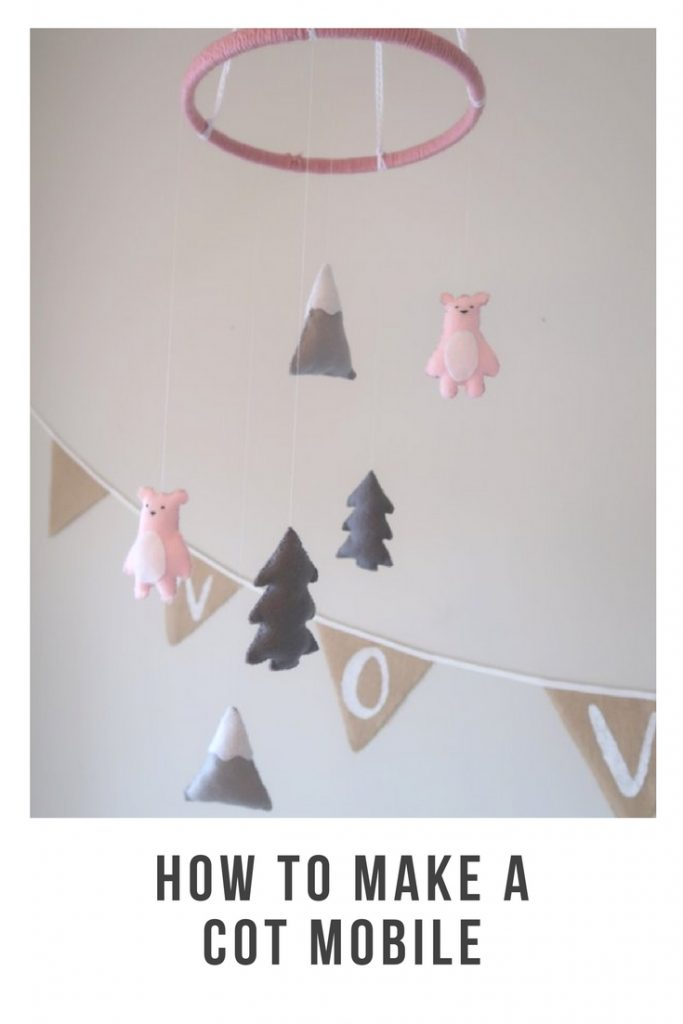 Travel Cot Mobile, baby girl mobile, Cot Mobile, Pink Cot Mobile, Ceiling Mobile,