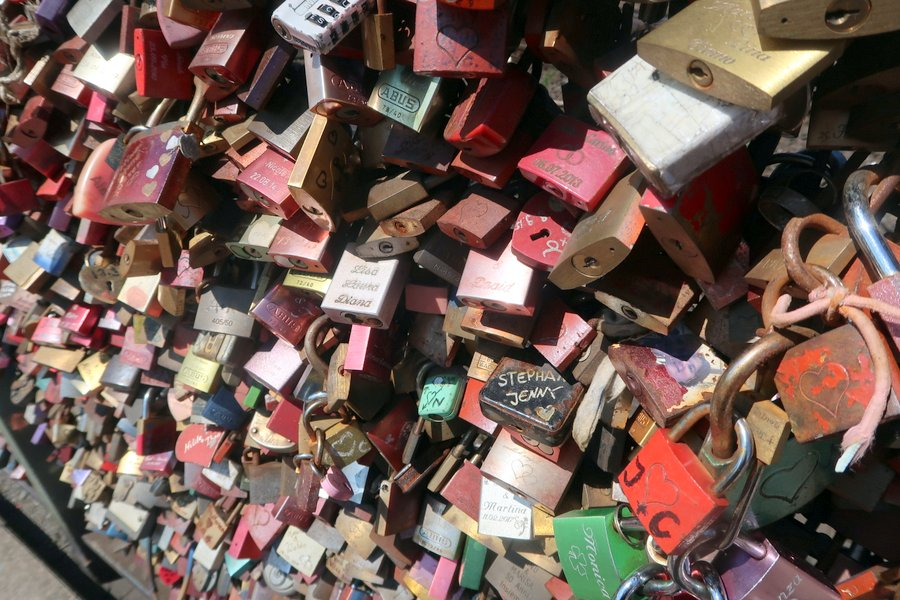 Things to do in Cologne - padlock bridge